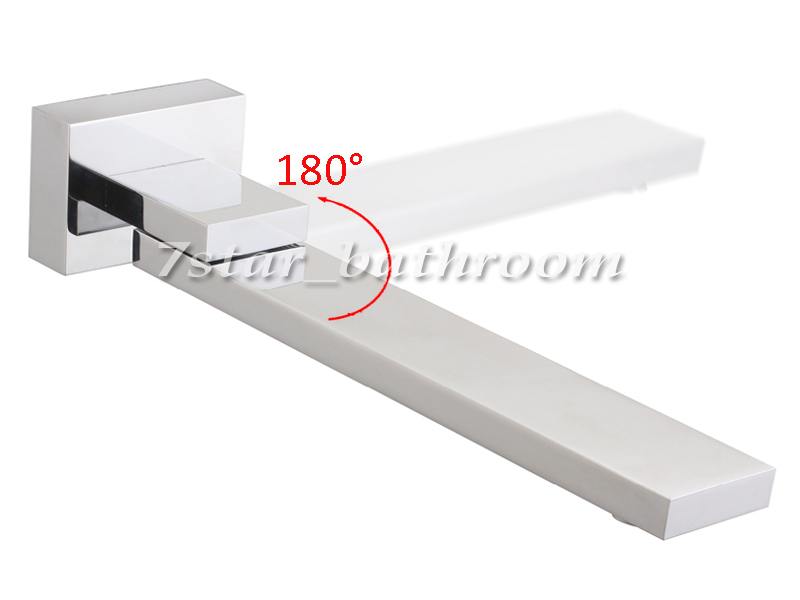 Watermark new 180 swivel square bathroom spa bath water for 180 degree salon