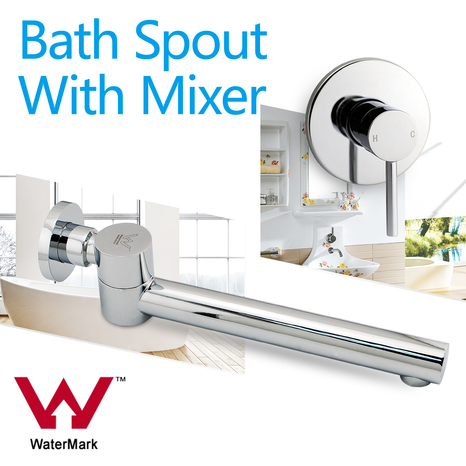 Spa Faucet Pedicure Spa Mixing Valve Bathtub Faucet Mixer: Bath Swivel Round Basin Vanity Spout Waterfall Mixer