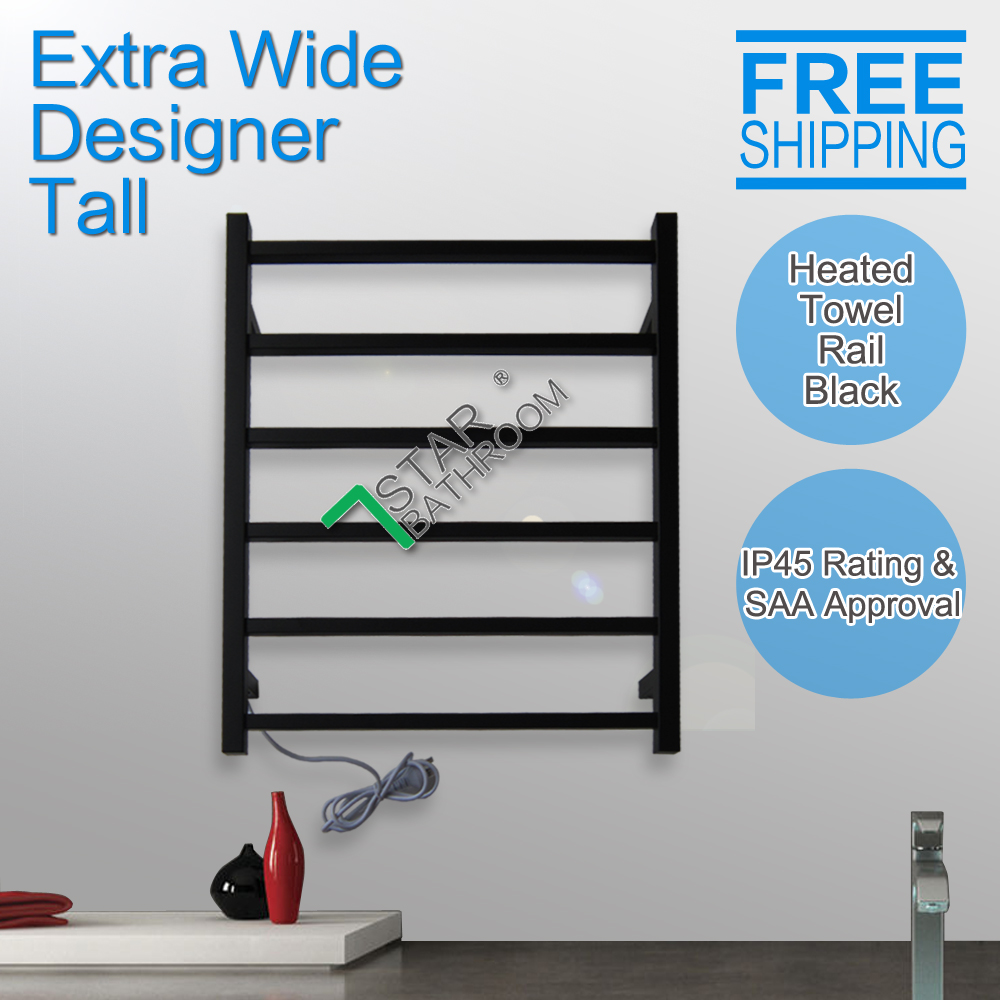 S Shape Concealed Exposed Wiring Heated Towel Rail: Wall Mount Square Electric Heated Towel Rack Stainless