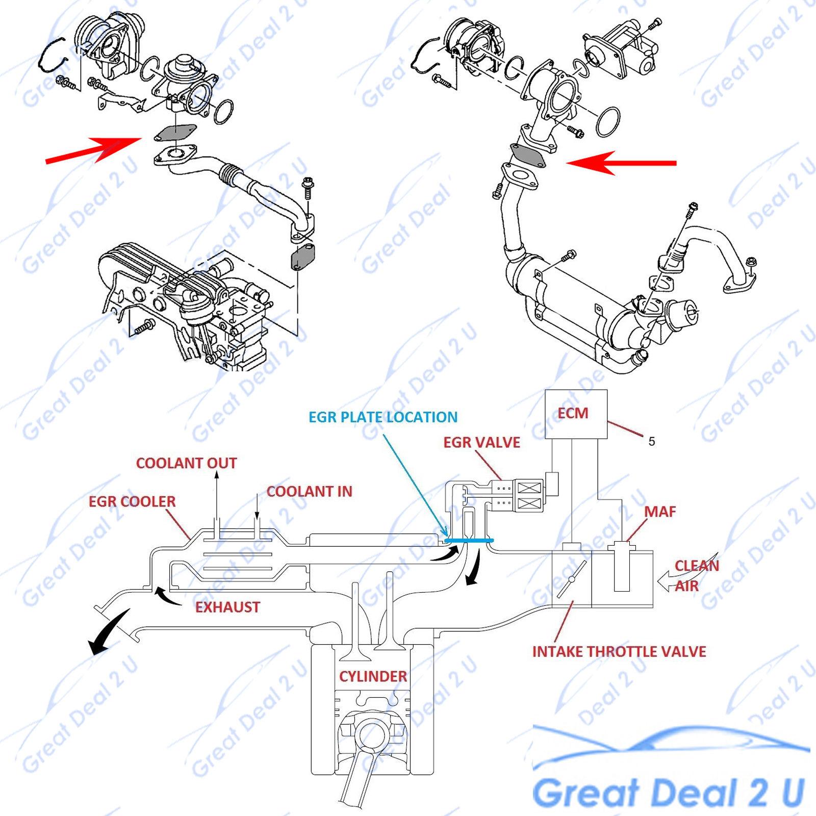 egr blanking plate navara d40 yd25 common rail 2 5l diesel