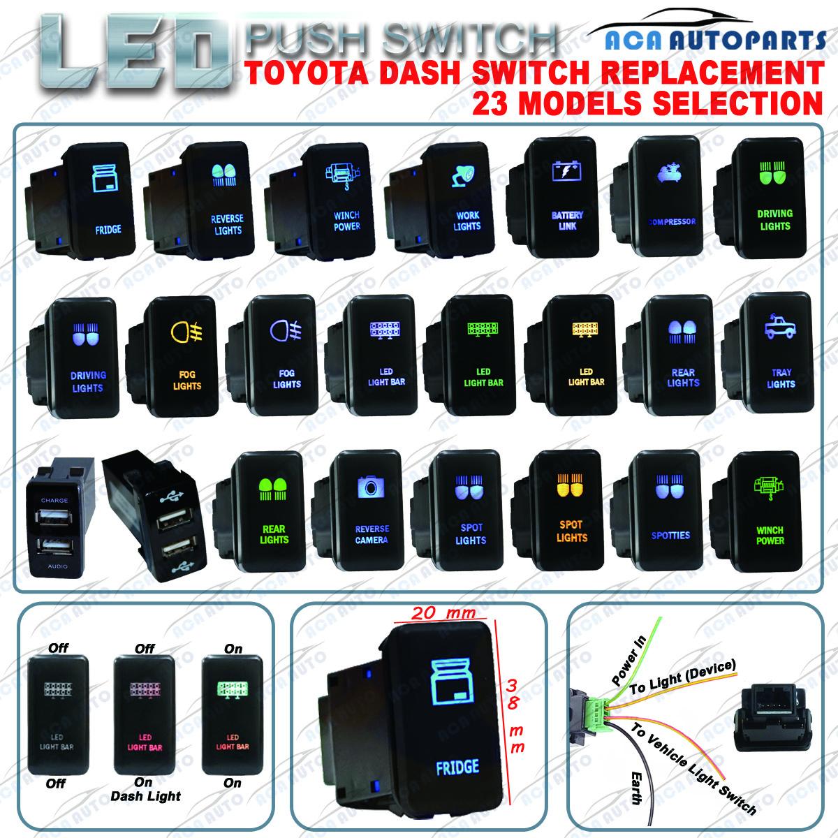 12v 3a Led Push Rocker Switch Toyota Fj Cruise Land