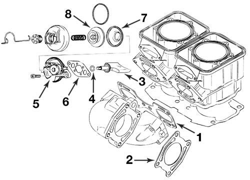 seadoo exhaust gasket kit 657  x 717  720 gst gs gti hx xp spx 1993