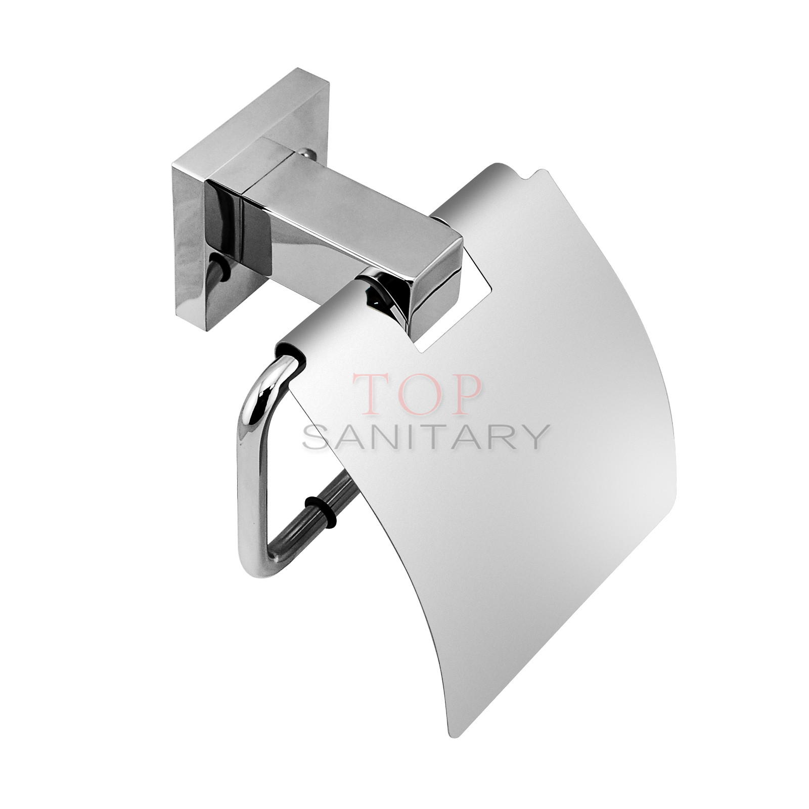 toilet paper holder with cover waterproof roll stainless steel 304 bath washroom ebay. Black Bedroom Furniture Sets. Home Design Ideas