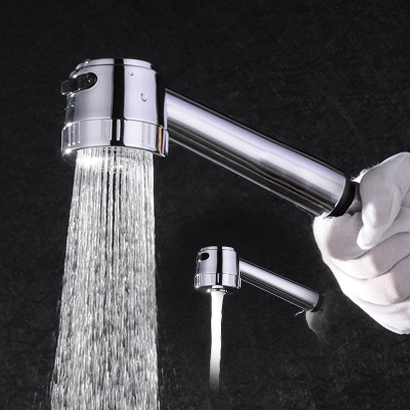 Aca Pull Out Spout Kitchen Sink Mixer Tap Laundry Faucet Spray Head Water Saving Ebay