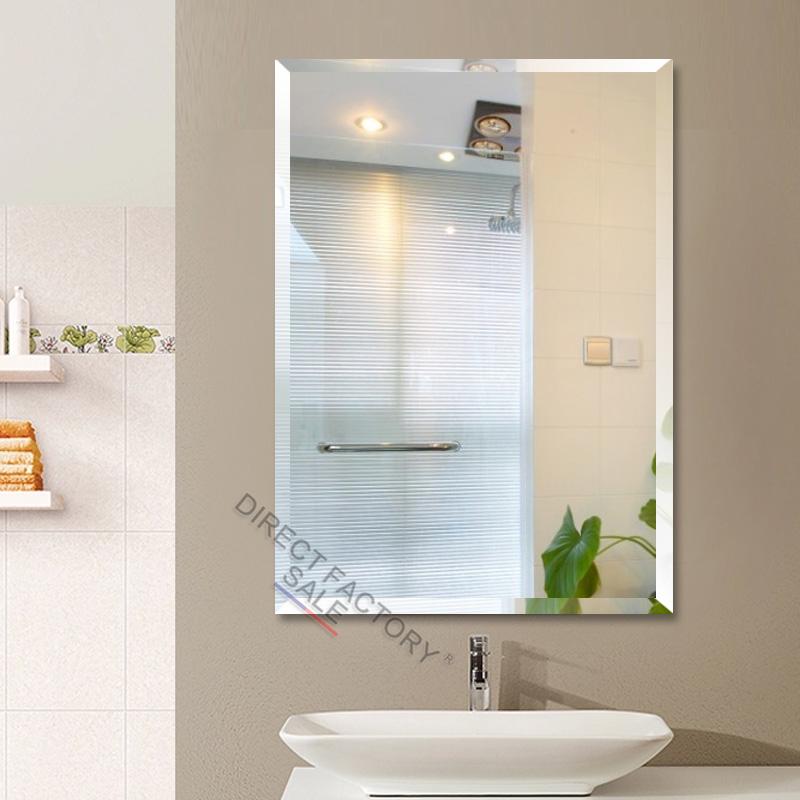 900 x 750x5mm frameless bathroom mirrors bevel edge wall for Mirror 750 x 900