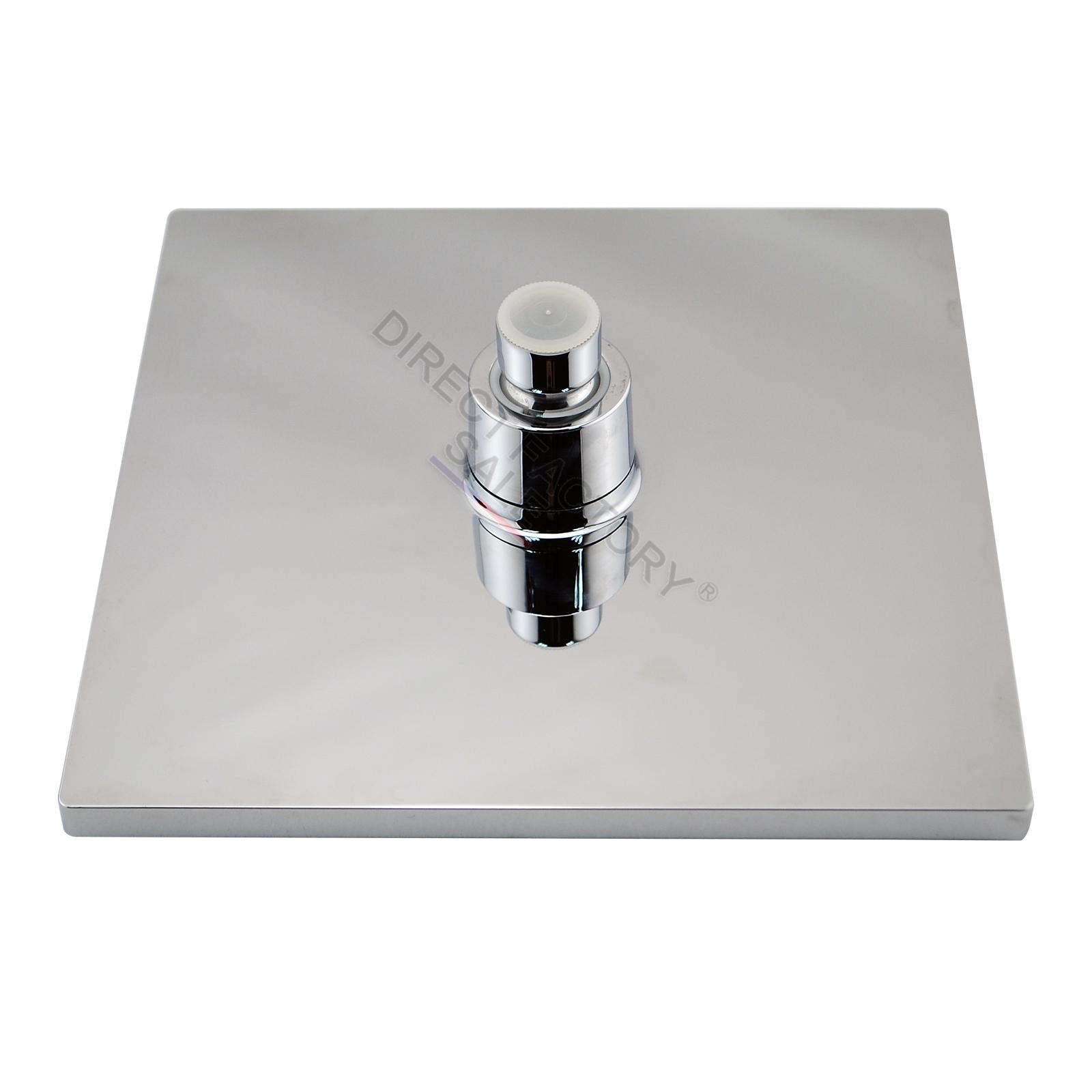 Rainfall Shower Head Set HandHeld Spray Diverter 1 4 Turn