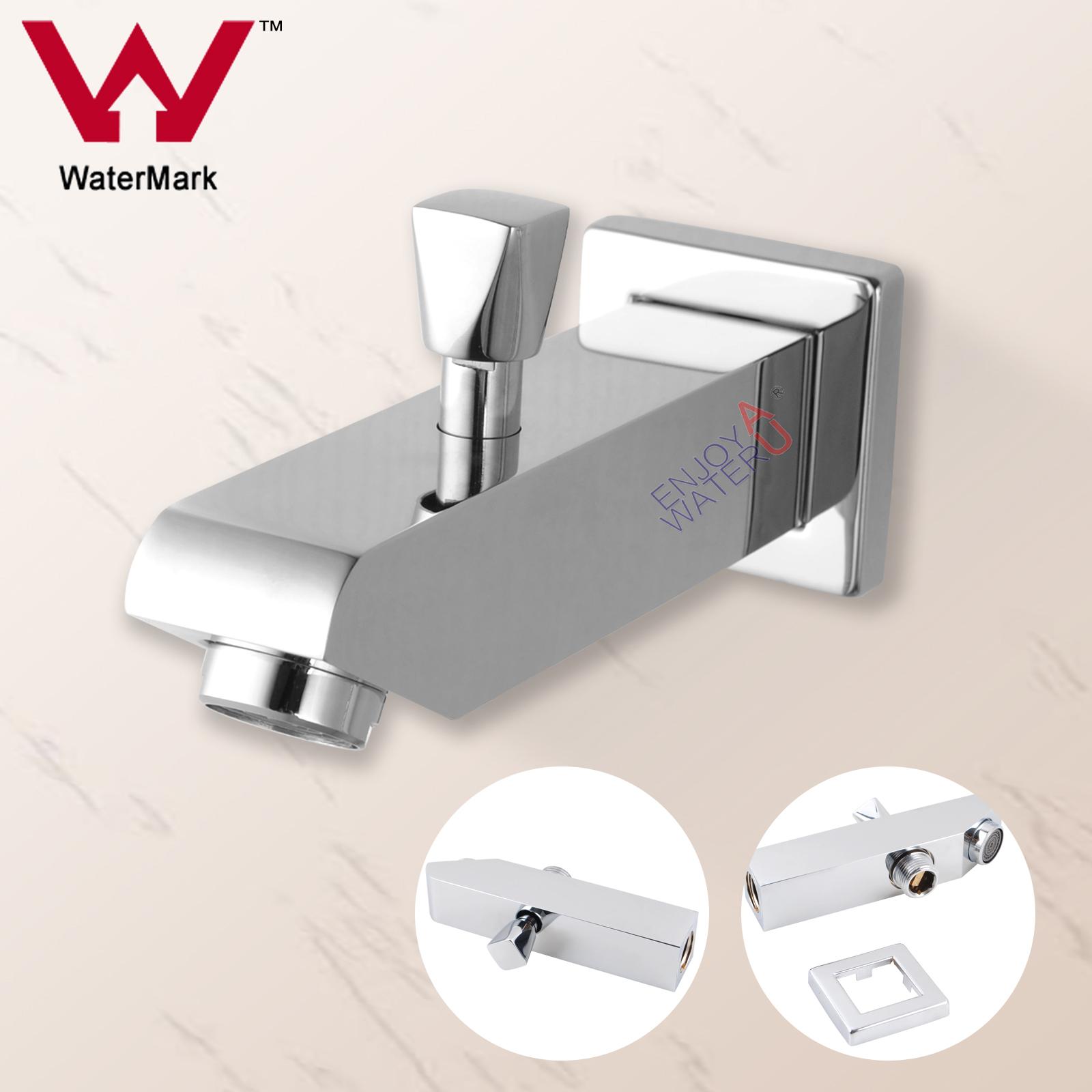 Bath Cubic Shower Head Spout For Mixer Tap Handheld W Diverter Water Faucet S