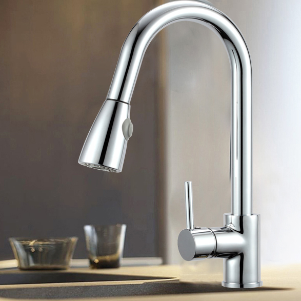 Wels Watermark Brass Pull Out Kitchen Basin Mixer Tap Sink Laundry Faucet Chrome Ebay