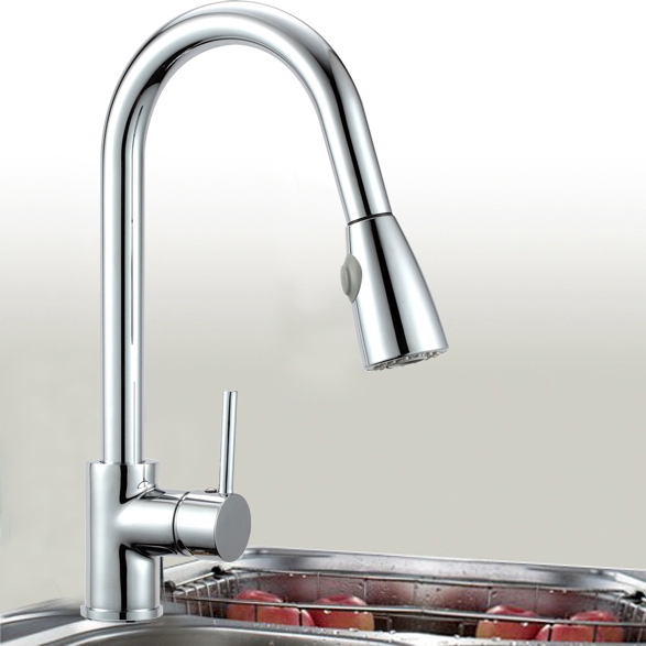Wels Watermark Solid Brass Pull Out Kitchen Basin Mixer Tap Sink Laundry Faucet