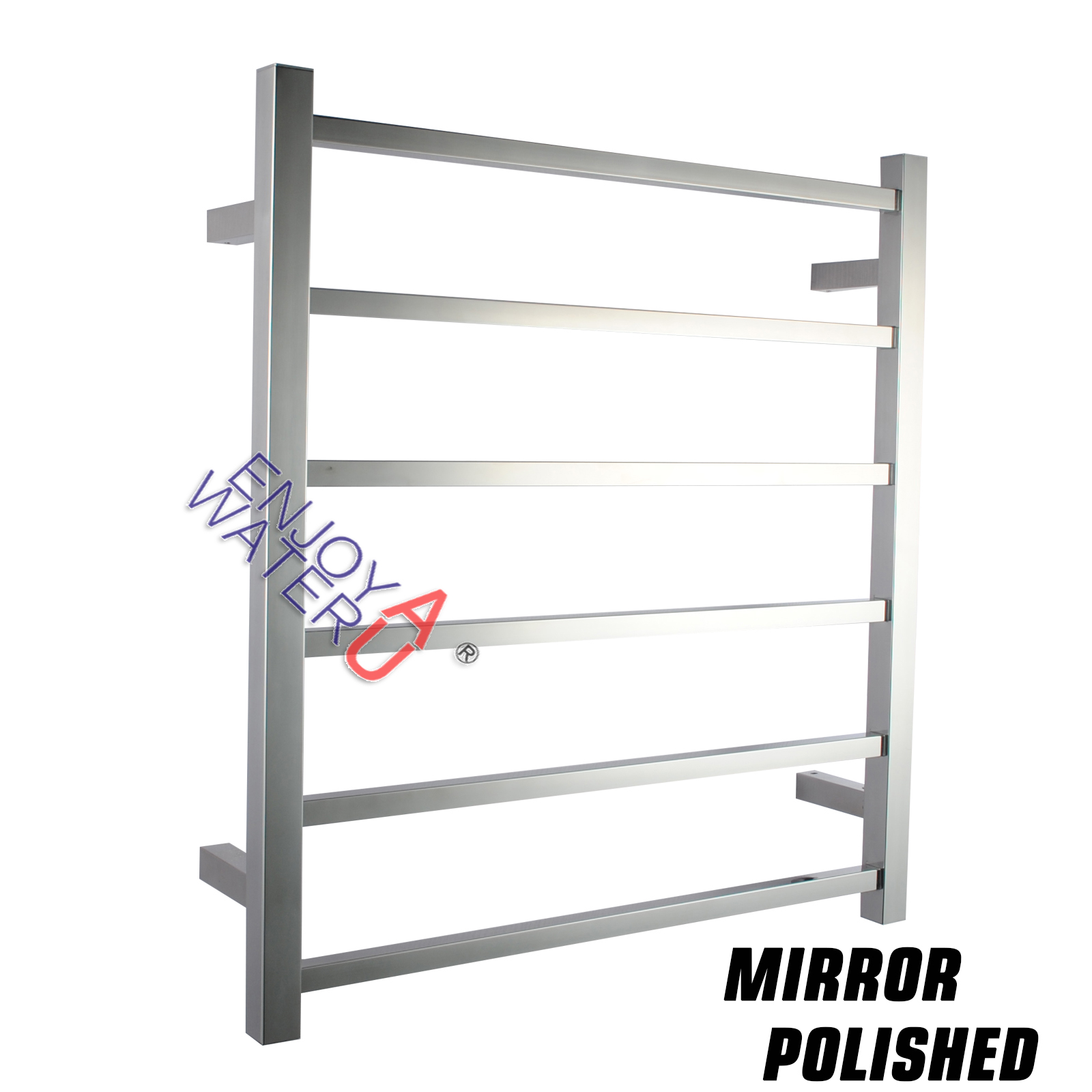 Stainless Steel Square Electric Heated Towel Rack Bath 6