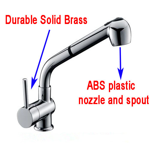 Utility Sink Faucet Sprayer Attachment : ... Pull out Brass spray spout kitchen basin mixer tap laundry sink faucet