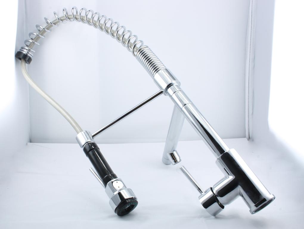Luxury Sink Kitchen Basin Faucet Double Mixer Tap Spout Rain Brass ...