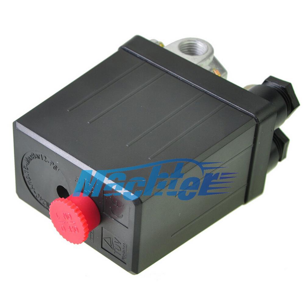 Solid air compressor pump pressure switch control valve 145 175psi heavy duty ebay