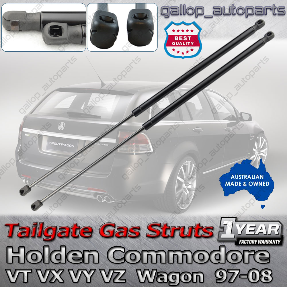 Pair Holden Commodore Wagon Tailgate Gas Struts VT VX VY