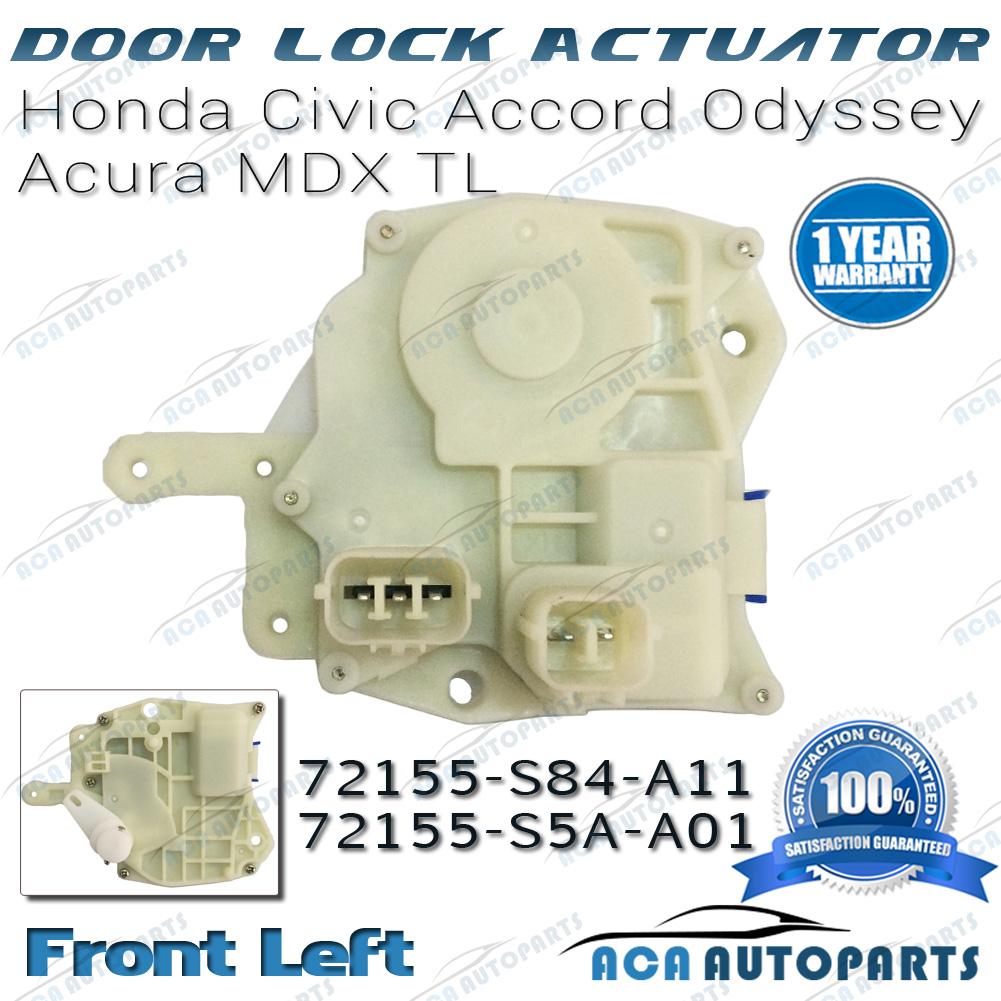 Power door lock actuator honda left front side civic for 05 honda accord door lock actuator