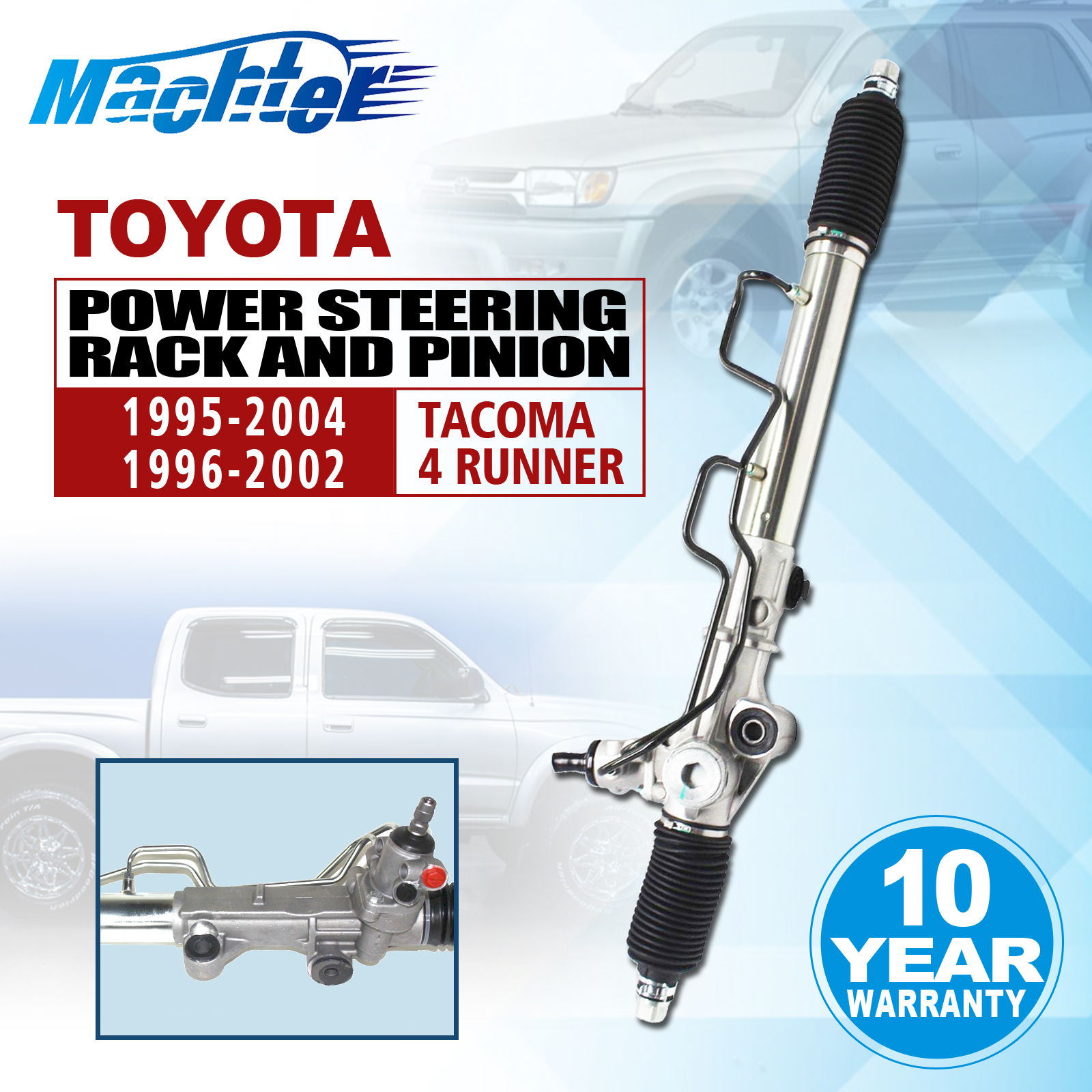 toyota tacoma 2wd 4wd complete power steering rack and pinion assembly 4 runner ebay. Black Bedroom Furniture Sets. Home Design Ideas