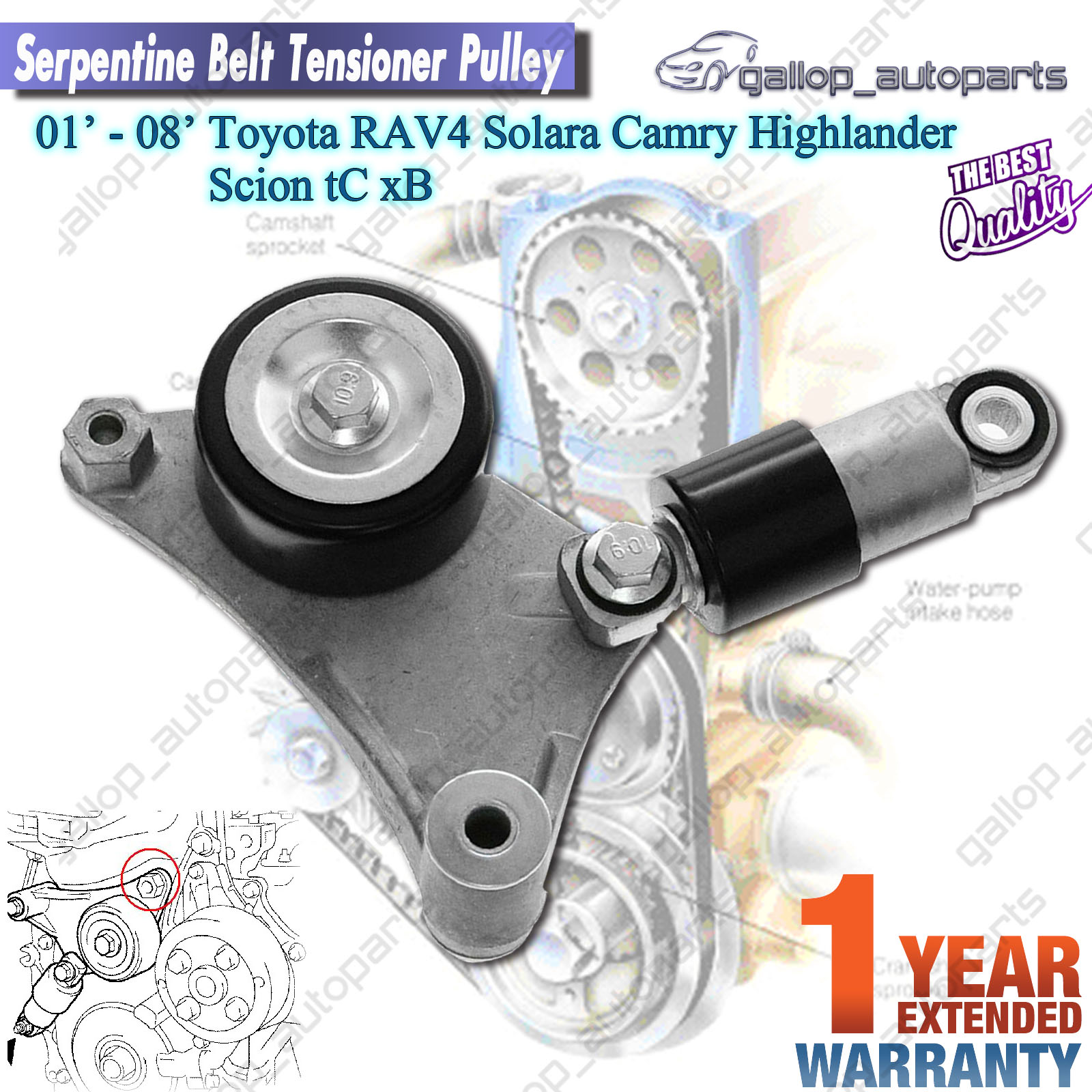 Tn Ta Gallop on 2005 Scion Xb Belt Tensioner