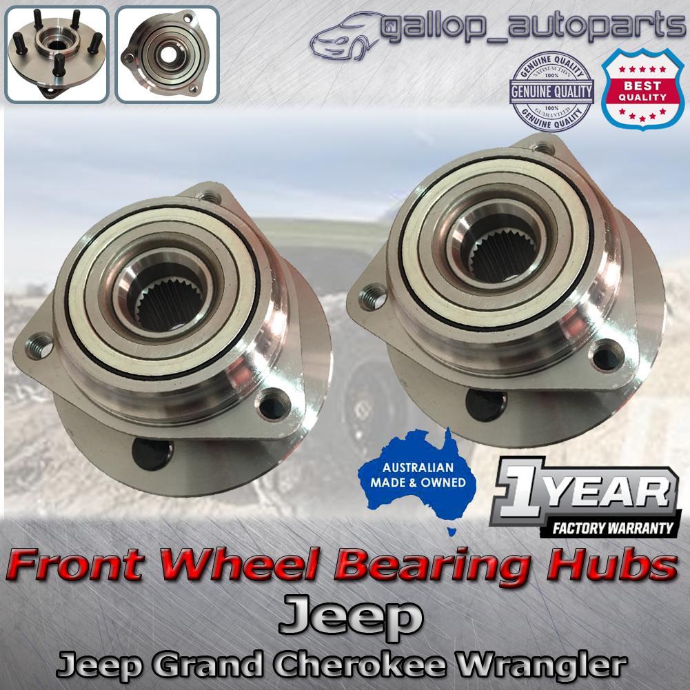 pair front wheel bearing hub jeep grand cherokee xj zg. Black Bedroom Furniture Sets. Home Design Ideas