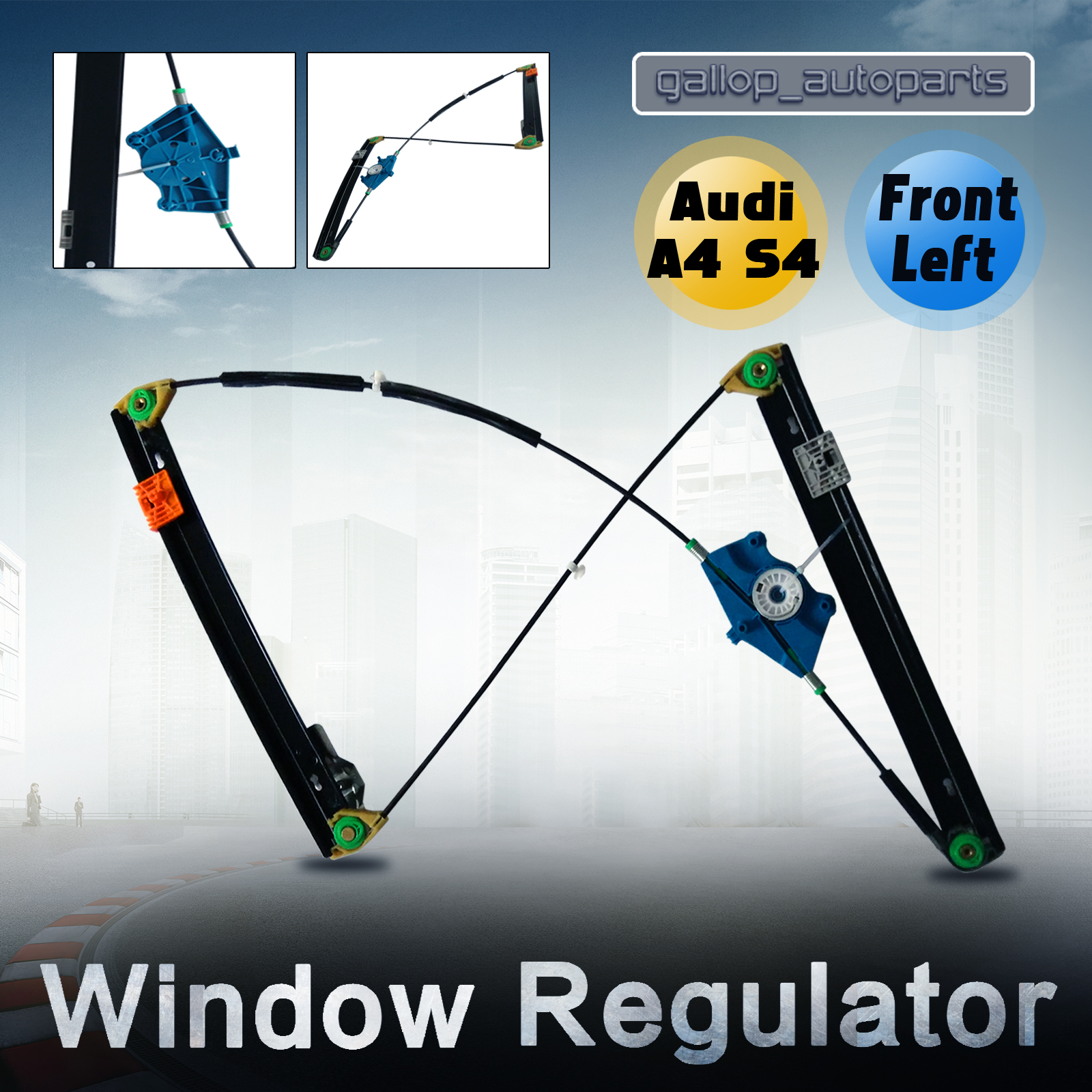 Window regulator audi a4 s4 02 08 passengers side front for 2003 audi a4 window regulator replacement