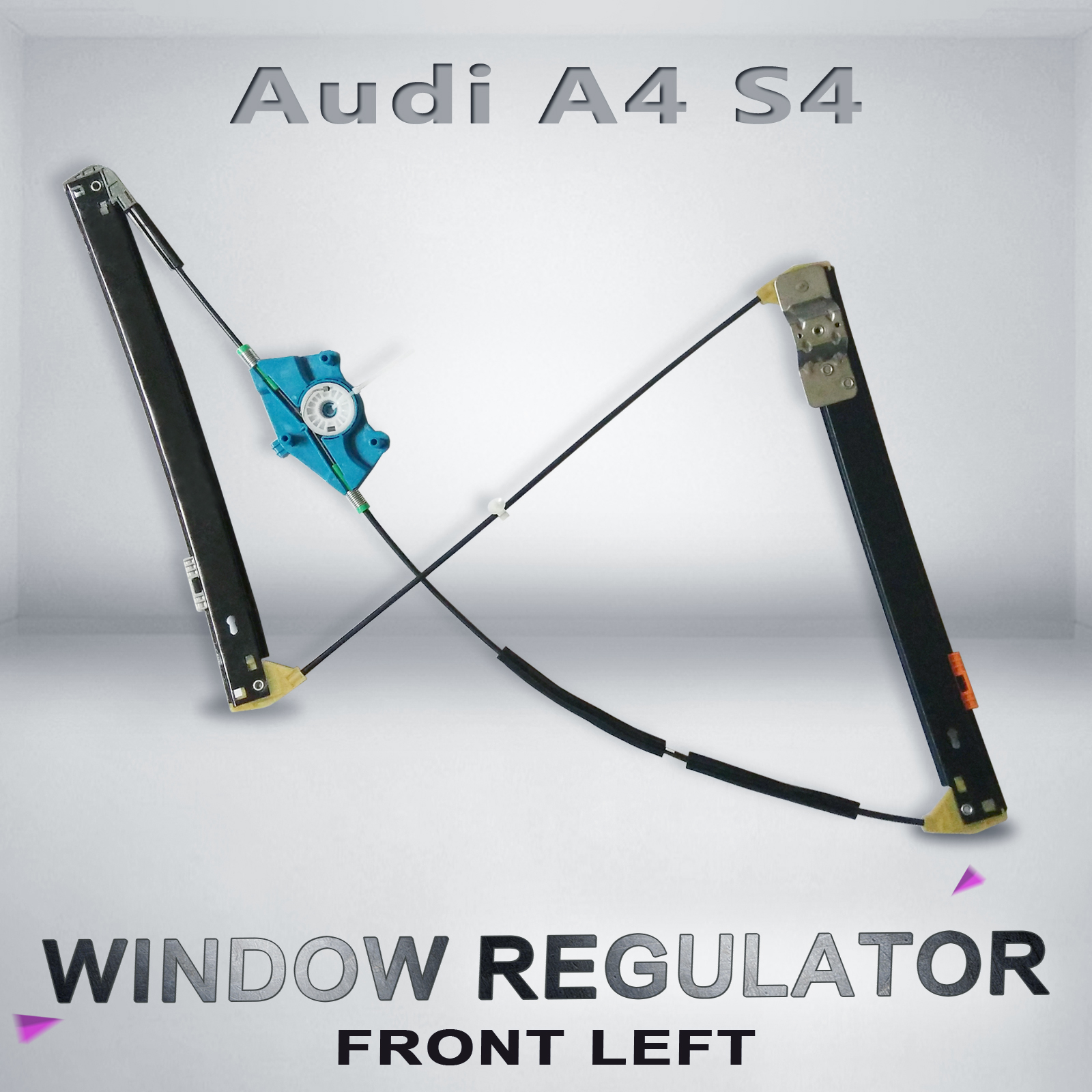 Window regulator audi a4 s4 8e b6 02 08 front left for 2003 audi a4 window regulator replacement