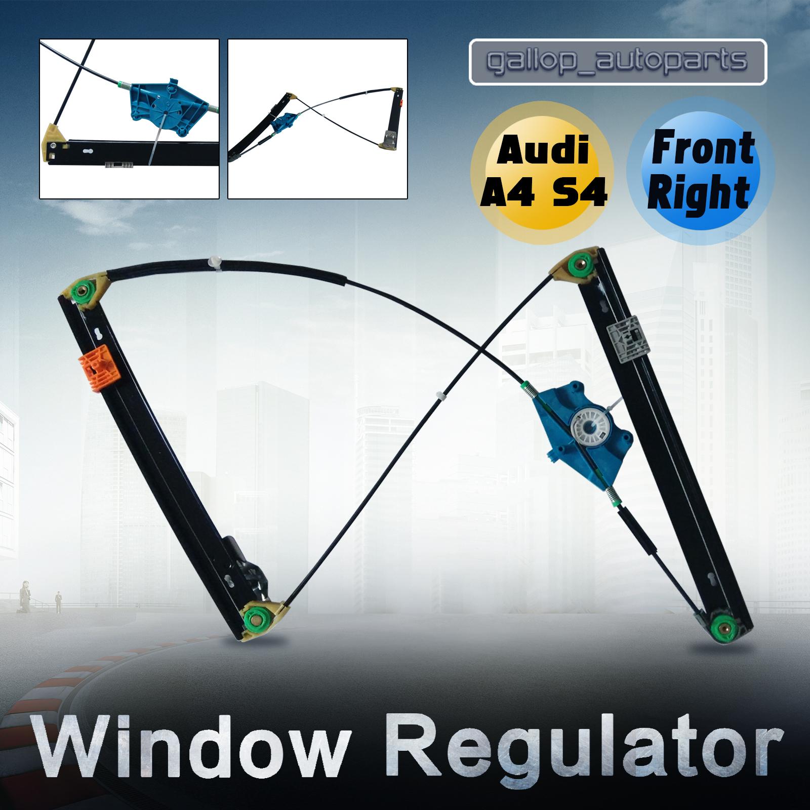 Power window regulator audi s4 a4 rs4 8e b6 front right for 2003 audi a4 rear window regulator replacement