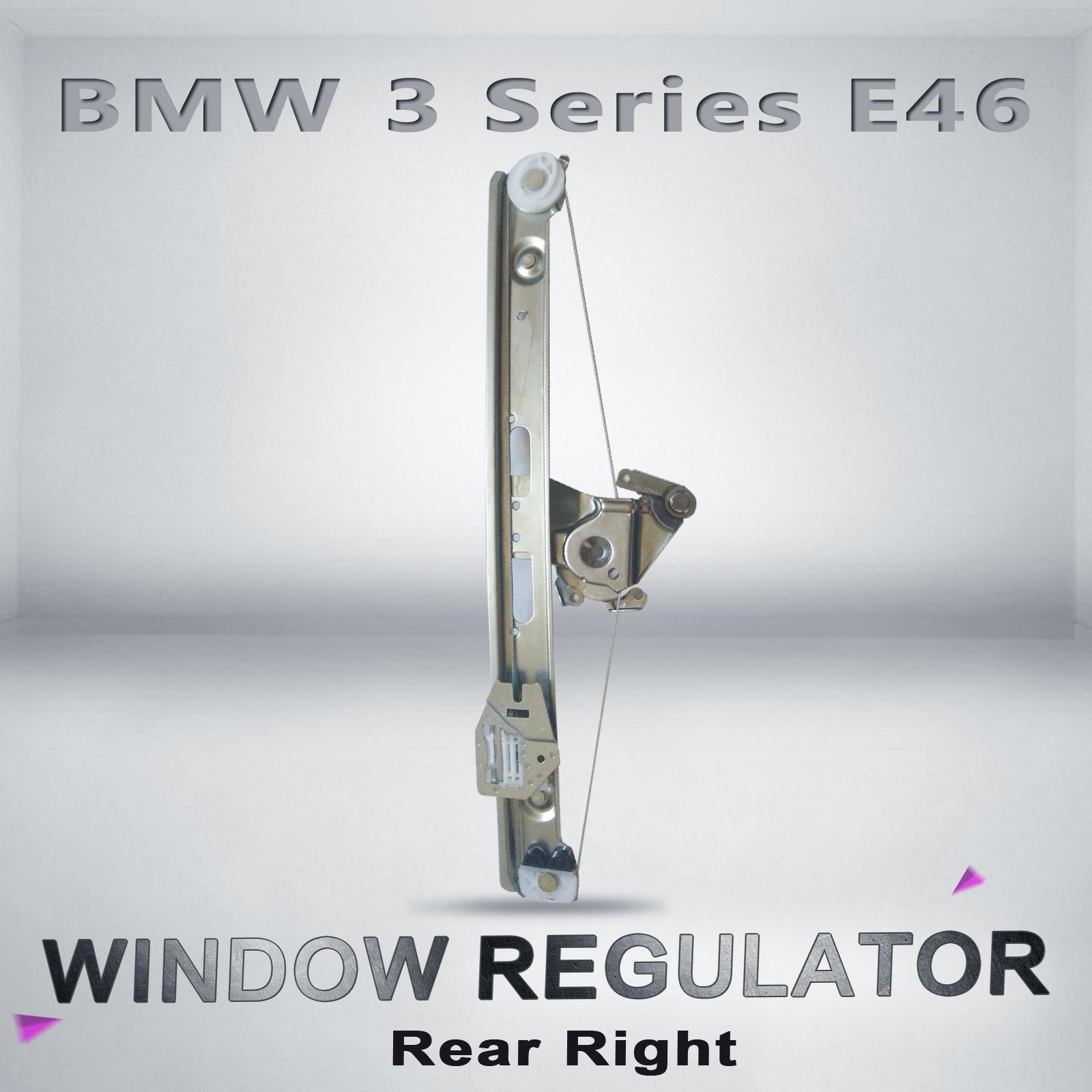 Bmw 3 series e46 window regulator sedan right hand rear for 2001 bmw 330i window regulator