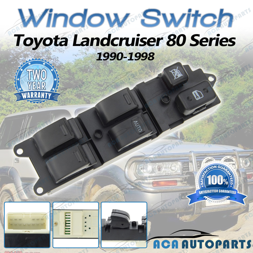 Main Master Electric Power Window Switch TOYOTA 80 Series