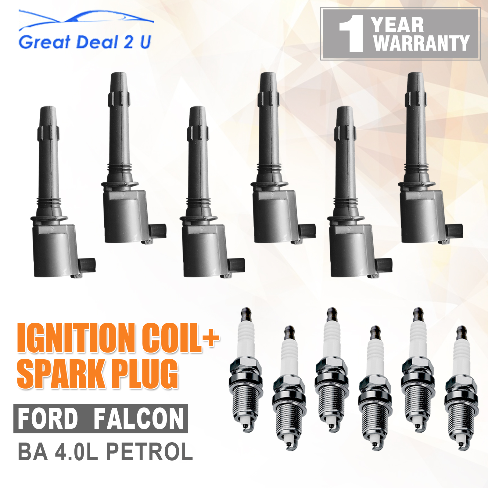 300zx Non Turbo Spark Plugs: Ford BA Falcon & XR6 Ignition Coil Packs +Spark Plugs 1