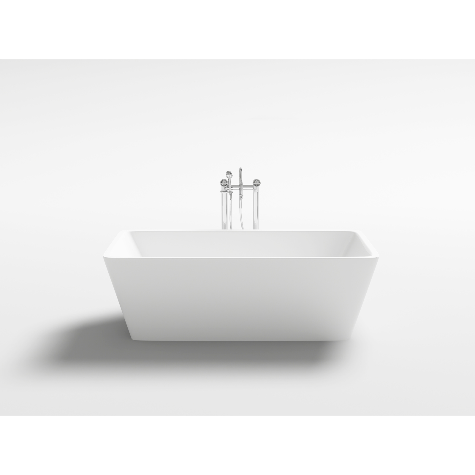 details about white square bath tub acrylic freestanding 1500x750x580