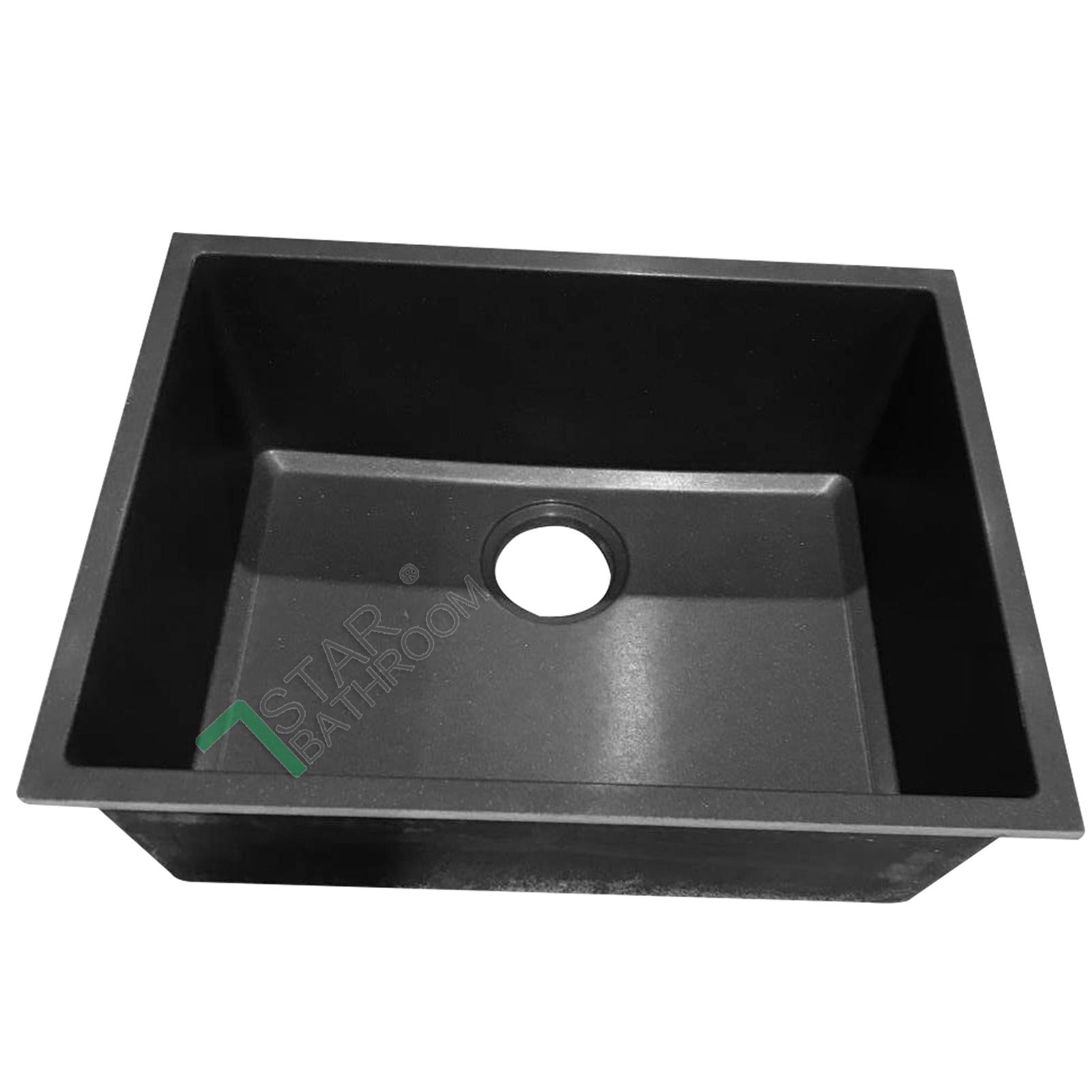 540mm black german granite quartz stone kitchen sink for German kitchen sinks