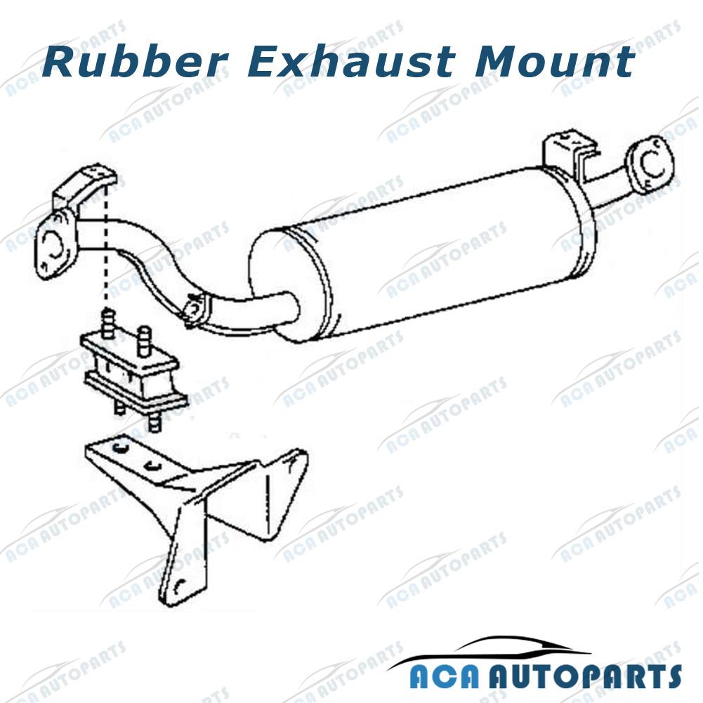 Rubber Exhaust Mount Toyota Landcruiser 40 60 70 80 100 Series Set Fj55 Wiring Diagram Package4 X Mounts