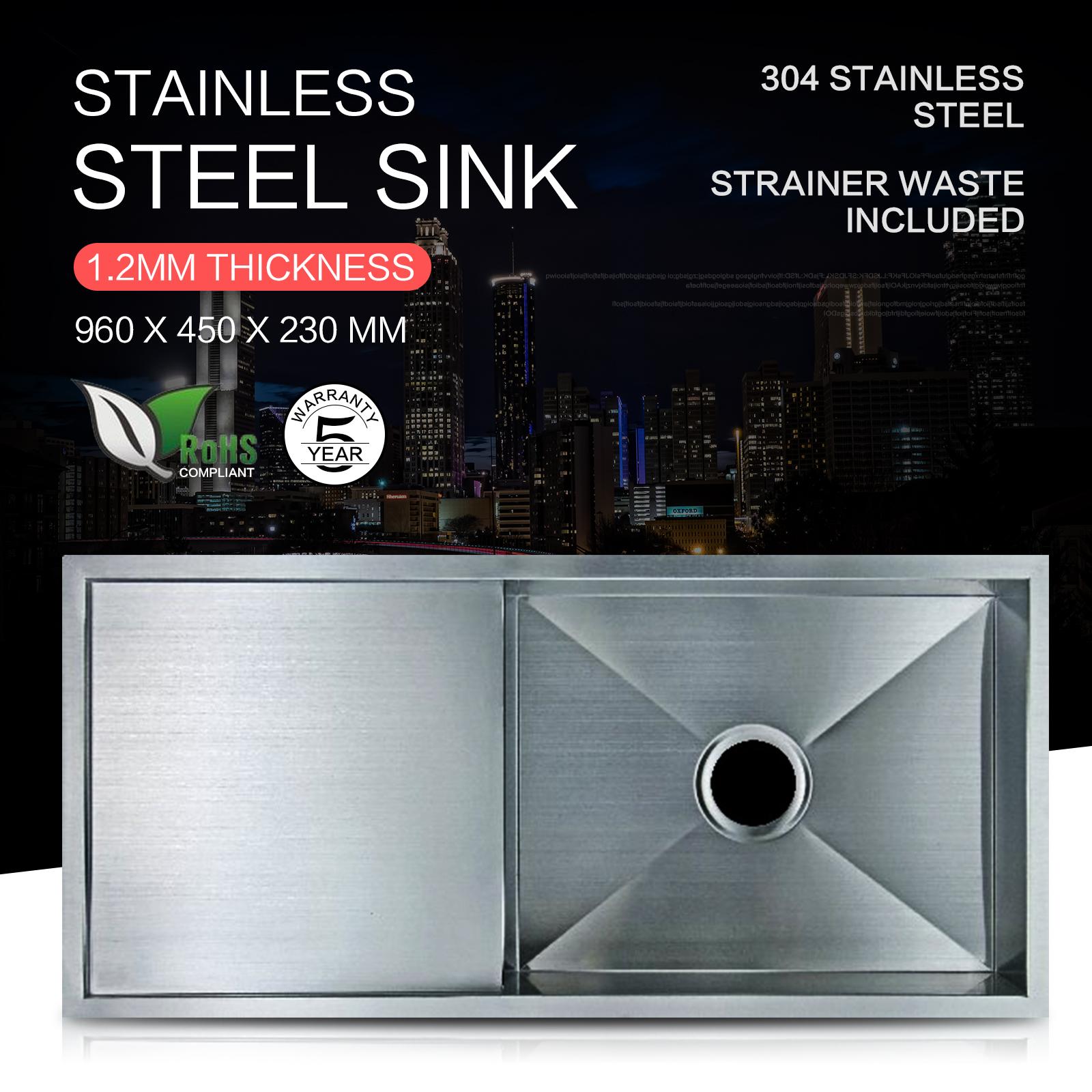 Stainless Steel Kitchen Sink Bowl Under Topmount Laundry