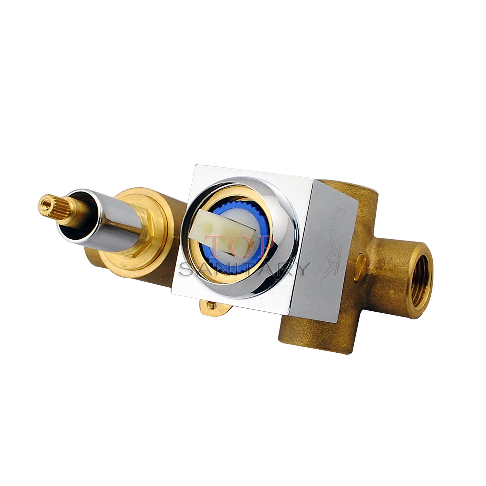 Square Diverter Mixer Tap Bath Water Outlet Spout Handheld
