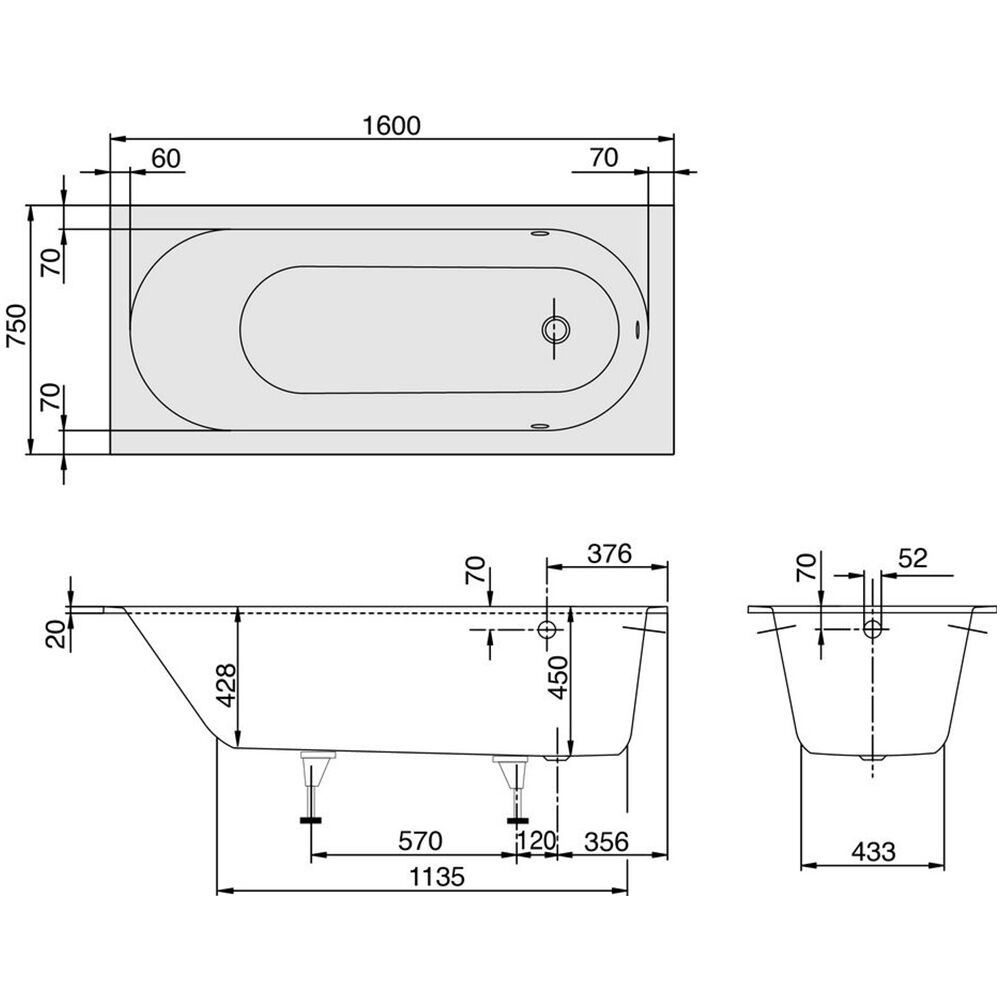1600mm drop in insert bathtub acrylic square oval bathroom Drop in bathtub dimensions