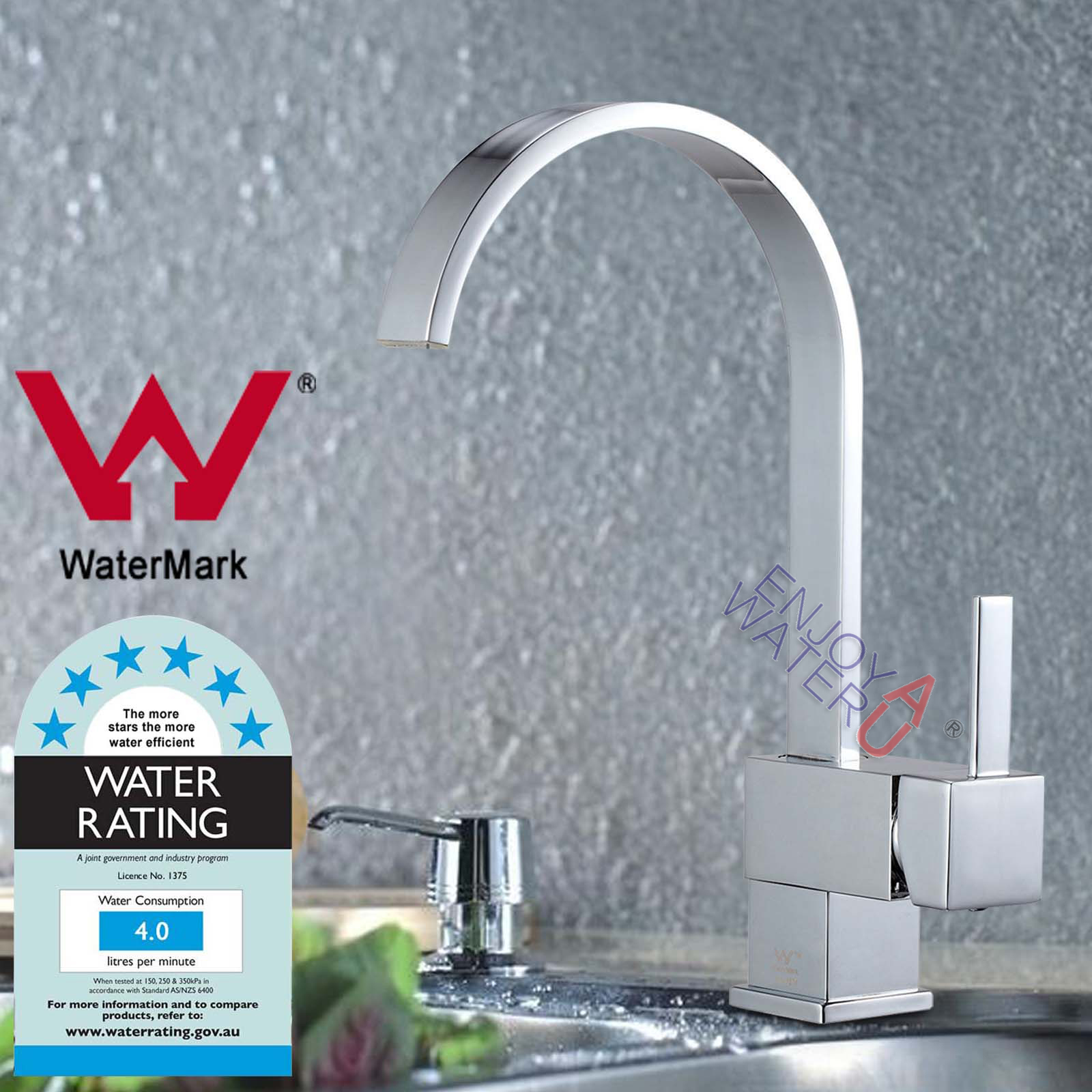 Watermark WELS Kitchen Faucet Pull Out Down Chrome Mixer Tap Basin ...