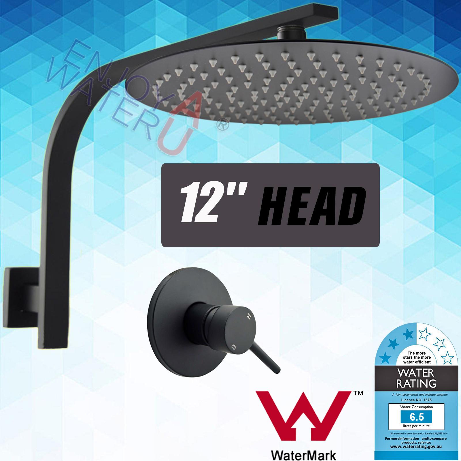 12\'\' 300MM Round Shower Head Set Gooseneck Wall Arm Mixer Tap Brass ...