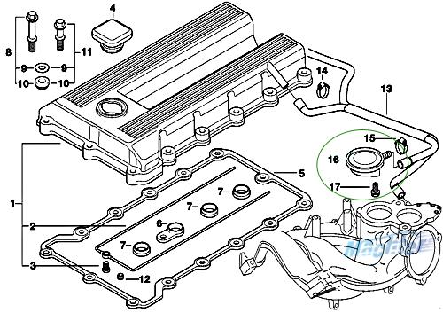 crankcase vent valve pcv ccv valve for bmw e36 e46 316i