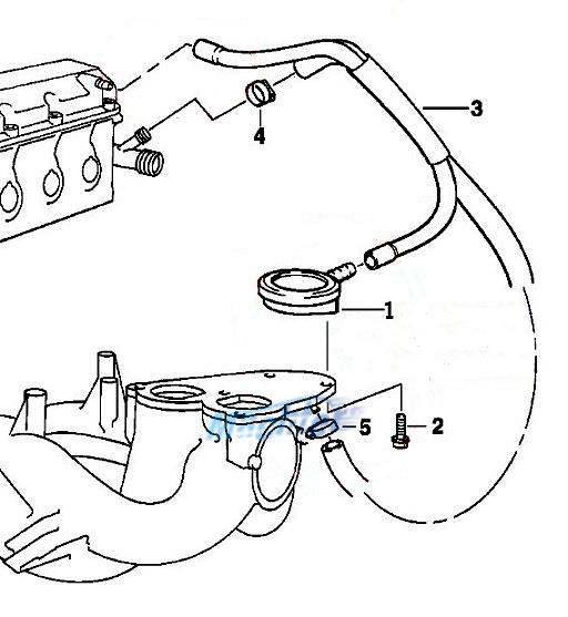 11157501567 crankcase vent valve pcv for bmw e36 e46 316i
