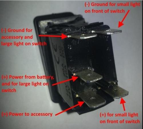 5 rocker switch music dual blue led arb carling narva 12v 24v on off 5 pin rocker switch wiring diagram at mifinder.co