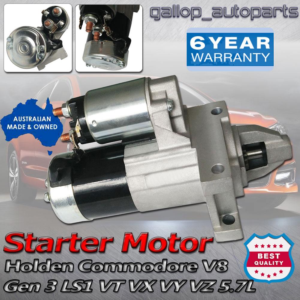 VZ VE VF VT VX VY VZ VU Commodore Starter Motor for Holden Gen3 Gen4 5.7L  LS1 | eBay